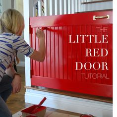 Little Red Door, baby gate alternative! But in Blue! Best Baby Gates, Pet Gate, Dog Gates, Door Crafts, Rustic Baby, John Mayer, Baby Grows, Nursery Rhymes, Home Projects