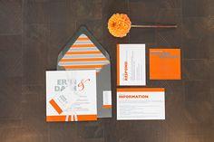 Bold Orange Invitation Suite