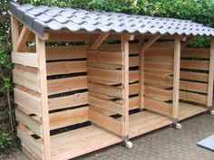 Firewood Shed, Log Store, Wood Storage, Tiny House, Pergola, Diy Projects, Exterior, Camping, Gardening