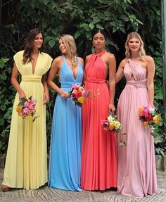 bridesmaid trends 2020 that are fabulous bridesmaid dresses, bridesmaid dress trends bridesmaid dresses bridesmaid dress colors, mismatched bridesmaid dresses 2020 Mismatched Bridesmaid Dresses, Bridesmaid Dress Colors, Prom Dresses, Wedding Dresses, Infinity Dress, Gowns, Outfit, Candy Colors, Bridesmaids