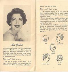 Pincurl diagram: Ava Gardner