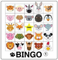 Play Bingo with your youngest kids!  This pdf file includes 30 Easy Animal Bingo game boards in two sizes.  Also included are 25 labeled animal images for use as draw cards.Kids love playing Bingo!  Think of it as a vocabulary review disguised as a game!Donald's English Classroom also offers Animal Flash Cards and Animal Tic-Tac-Toe for more animal fun in class!