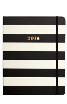 Pre-order your 17-month @katespadeny agenda here! 💕 Office Fashion, Work Fashion, Kate Spade, Black Stripes, Handbag Accessories, Nordstrom, 2016 Planner, New York, Autumn Fashion