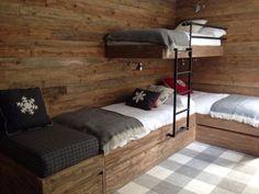 Chalet de ski et lits superposés