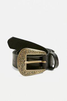 Nouveau Homme en Cuir Véritable Motif Carreaux Pin Boucle 35 mm largeur ceintures