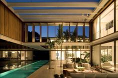 Stunning modern residence # terraces  # outdoor  indoor entertaining # long lap pool