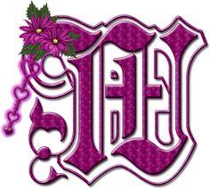 Alfabeto floral rosa chicle....mayuscula..W