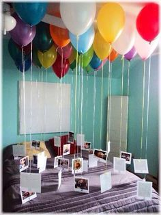 Maybe for My boyfriends birthday I can do this for him to come home to!