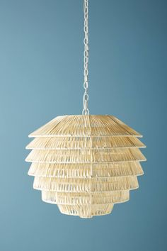 7daf2affc28 Shop the Tiered Rattan Pendant and more Anthropologie at Anthropologie  today. Read customer reviews,