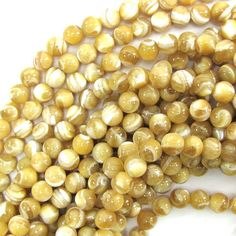 """7mm natural mother of pearl mop round beads 15.5"""" strand 30125 by EagleBeadz on Etsy https://www.etsy.com/listing/259315706/7mm-natural-mother-of-pearl-mop-round"""