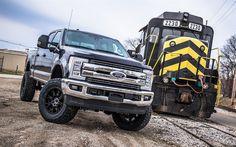 Descargar fondos de pantalla Ford F-250 Super Duty, 2018 autos, camionetas, SUVs, estados UNIDOS, tren, Ford