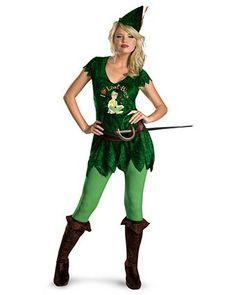 Womens Sassy Disney Peter Pan Costume   Wholesale Disney Halloween Costume for Women