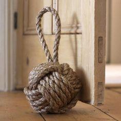 Hand Made Jute Door Stop Knot: Willow U0026 Stone