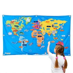 The most fun interactive world map game for kids map games 55 discovery kids fabric world map gumiabroncs Choice Image