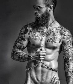 @Regrann from @kryspasiecznik - El mayor placer de la vida es hacer lo que la gente dice que no puedes. #model #beards #tattoos #fashion #beard #tattoo #art #tatuajes #barbas #madrid #spain #fitness #gym #abs #motivation #sixpack #veins #plugs #piercings #bearded #tattooed #GQtattoo  Photo: @joancrisolphoto  Stylism: @antoniobordera