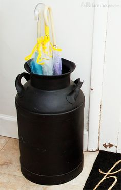 Farmhouse milkcan umbrella stand