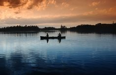 Canoeing at Sunset – a great active vacation for summer!