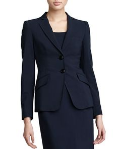 Two-Button Jacket, Midnight by Armani Collezioni at Neiman Marcus.