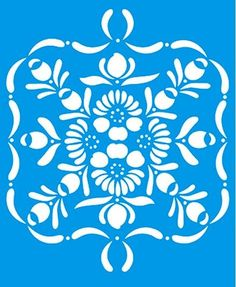Stencil Arabesco Floral 17 x 21cm - STM 167 Litoarte - Stencil 17 x 21cm - Stencil ou molde vazado - Empório Janial