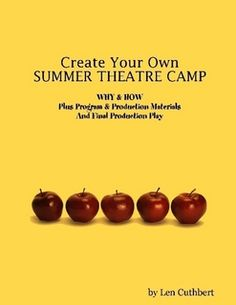 Create a theatre camp for kids of any financial situation.