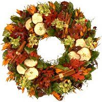The Christmas Tree Company Dried Sweet Orchard Floral Wreath ShopNBC.com