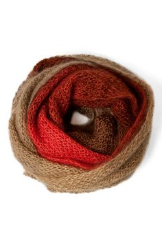 Shibui Gradient Cowl...fantastic.  Free pattern.  Shibui Silk Cloud in store galore!
