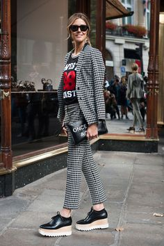 Street Fashion Paris wiosna-lato 2015, fot. Imaxtree