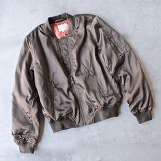 padded satin bomber jacket - olive - shophearts - 1