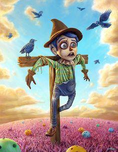 http://www.copronason.com/jim/pages/b_Pugglepillar_01.html  Jim McKenzie /Scarecrow original Bust LOST MAGIC