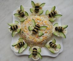 Food decoration - - food art - - Kochen - Home Cute Food, Good Food, Yummy Food, Food Carving, Food Garnishes, Garnishing, Snacks Für Party, Food Decoration, Food Platters