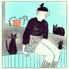 Some black cats - Rebekka Dunlap