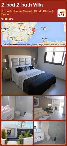 2-bed 2-bath Villa in Orihuela Costa, Alicante (Costa Blanca), Spain ►€145,000 #PropertyForSaleInSpain