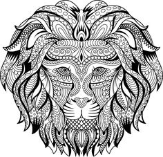 adult coloring pages Lion Coloring Pages, Blank Coloring Pages, Elephant Coloring Page, Adult Coloring Book Pages, Mandala Coloring Pages, Printable Coloring Pages, Coloring Books, Baby Cartoon Drawing, Cartoon Drawings