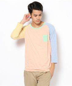 Hanjiro (Men's)(ハンジロー メンズ)のクレイジーラグラン7分袖Tシャツ(Tシャツ・カットソー) B