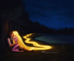 I have magical hair that glows when i sing!