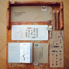 Always loved this invite set. If we could have had ours in the woods this is exactly how i would have wanted it