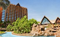 Aulani resort, view from the lazy river.