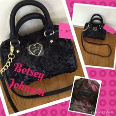 Betsey Johnson NWT leather and lace crossbosy  Just in Betsey Johnson leather and lace crossbody. Strap is detachable. Measures 8x6. Last one sold in a day.  Betsey Johnson Bags Crossbody Bags