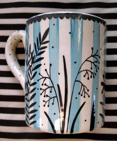turquoise mug will copy for paint your own pottery ladies nite