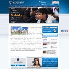 Content Mangement System website for manchesters International School Designed by http://zaaraatech.com