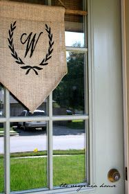 The Virginia House: NO SEW! Front Door Decor
