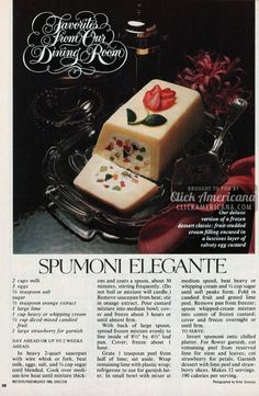 1982-Spumoni Elegante dessert recipe