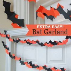 DIY Bat Garland