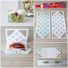 Create chocolate gift boxes perfect for any occasion! Chocolate Gift Boxes, Bamboo Leaves, Beautiful Gift Boxes, Paper Cutting, Card Stock, Paper Crafts, Create, Holiday Decor, Diy