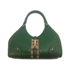 From MTYCI - Gucci Green Leather Shoulder Bag