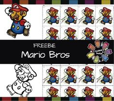 """Wow! Almost 200 followers! Thank you so much... I can't believe it!So, here is my NEW FREEBIE. Hope you like it! :-) ABOUT THIS SETThis set contains 4 images. - 1 colored Mario Bros. - 1 B&W Mario Bros. - 1 Black silhouette Mario Bros. - 1 Mario Stickers (""""Have a nice weekend"""") You can reward students with this page if you print it on a sticker page. * There is another folder containing the same images in JPG format."""