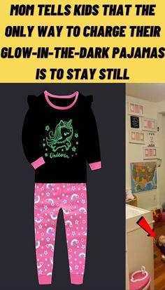 #Mom #tells #kids #only #way #charge #glow #dark #pajamas #stay #still