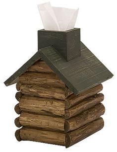 Log Cabin Tissue Box