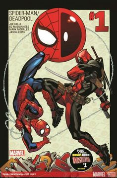 Spider-Man – Deadpool Volume 1 is a comic series from Marvel comics detailing the adventures of Spider-Man and Deadpool. It all starts with Deadpool asking Spider-Man to be sort of like his m… Deadpool Et Spiderman, Deadpool Comic Book, Deadpool 2016, Deadpool Series, Marvel Comics, Bd Comics, Marvel Art, Free Comics, Spideypool