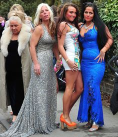 gypsy irish travellers | Glamour girls: McFadyens mother, in silver, poses with fellow guests ...